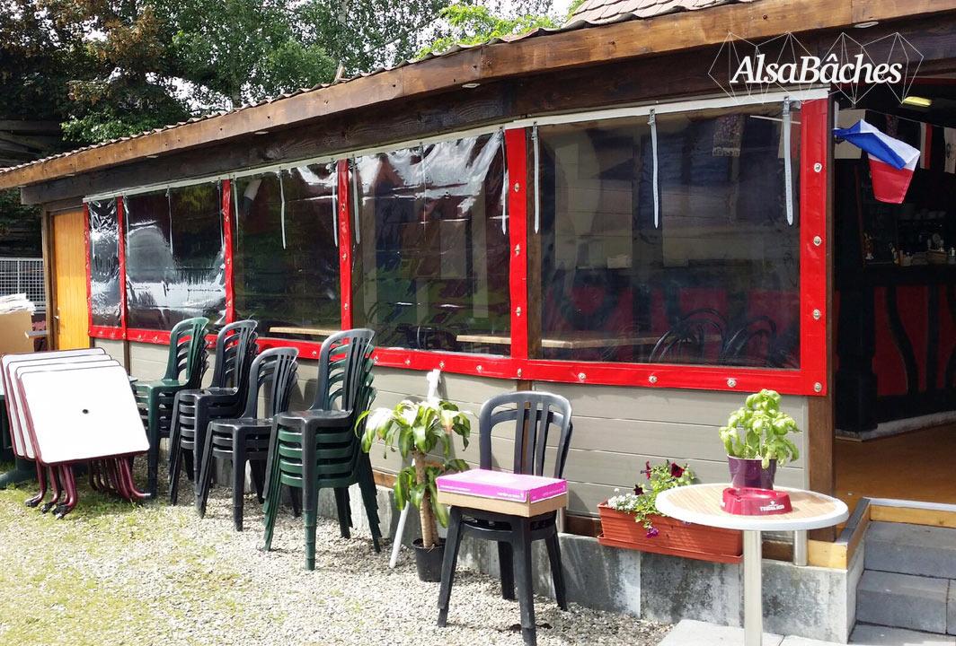 Nos r alisations alsabaches confection et r paration - Bache terrasse restaurant ...